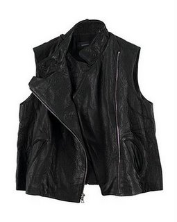 Alexander Wang leather vest black